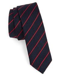 Eleventy Stripe Skinny Silk Tie