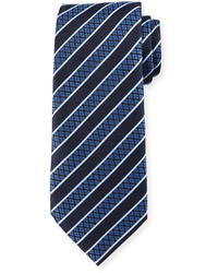 Textured grand striped silk tie medium 641825