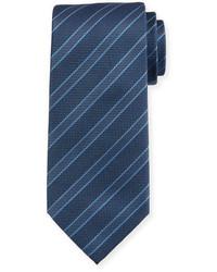 Giorgio Armani Wide Stripe Silk Tie Navy