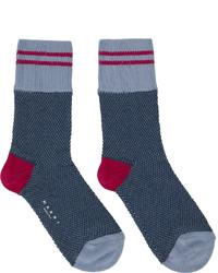 Marni Blue Pink Striped Socks
