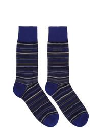 BOSS Navy Multi Stripe Socks