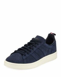 Campus suede 3 stripe sneaker dark blue medium 4400557