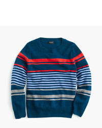 Navy Horizontal Striped Sweater
