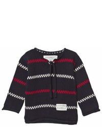 Emma Och Malena Navy Knitted Kring Sweater
