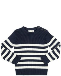 North Sails Striped Cotton Wool Blend Sweater
