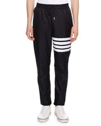 Thom Browne 4 Bar Striped Track Pants Navy