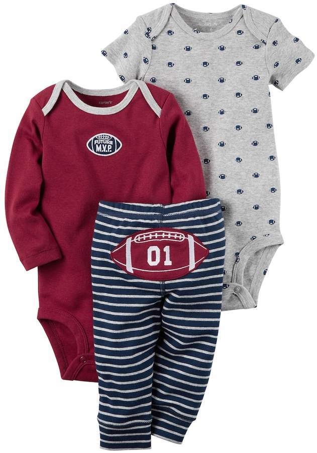 Carter's Carters Baby Boy Future Mvp Bodysuit Football Bodysuit Striped Pants Set