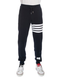Thom Browne Classic Drawstring Sweatpants With Stripe Detail