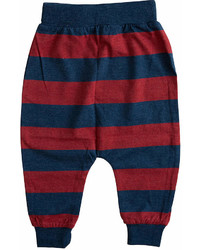 Red Navy Stripe Pants Infant Toddler Boys