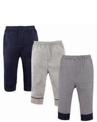 Luvable Friends Size 5t 3 Pack Stripe Tapered Pants In Navy