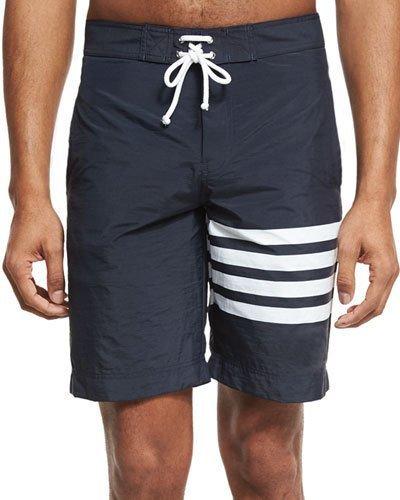 ... Thom Browne 4 Bar Striped Board Shorts ...