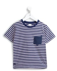 Navy Horizontal Striped T-shirt