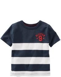 Osh Kosh Toddler Boy Oshkosh Bgosh Short Sleeve Embroidered Chest Striped Tee
