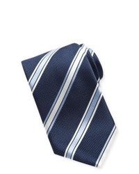 Navy Horizontal Striped Tie