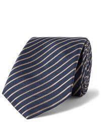 Giorgio Armani 7cm Striped Silk Jacquard Tie
