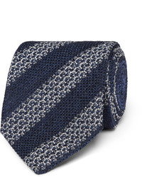 Ermenegildo Zegna 8cm Striped Silk Blend Tie