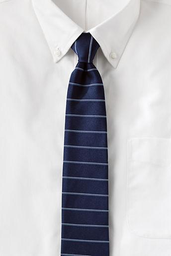lands end regular silk horizontal stripe necktie