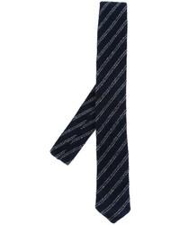 Striped woven neck tie medium 759428