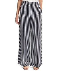 Elizabeth and James Jones High Rise Striped Wide Leg Trousers