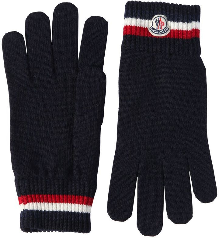 fe054ce9a73c Moncler Striped Wool Gloves