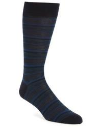 Pantherella Vintage Collection Standard Birds Eye Stripe Merino Wool Blend Socks