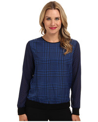 Michl michl kors houndstooth print sweater medium 565769