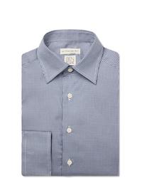 Etro Blue Slim Fit Puppytooth Lyocell Shirt