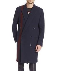 Navy Houndstooth Overcoat