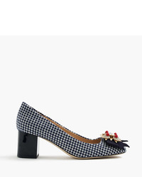 J.Crew Collection Jeweled Heels In Houndstooth