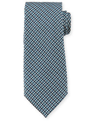 Tom Ford Iridescent Houndstooth Print Silk Tie