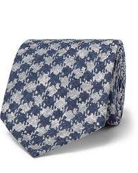 Rubinacci 75cm Puppytooth Print Silk Tie