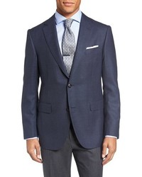 Pal Zileri Classic Fit Houndstooth Wool Sport Coat