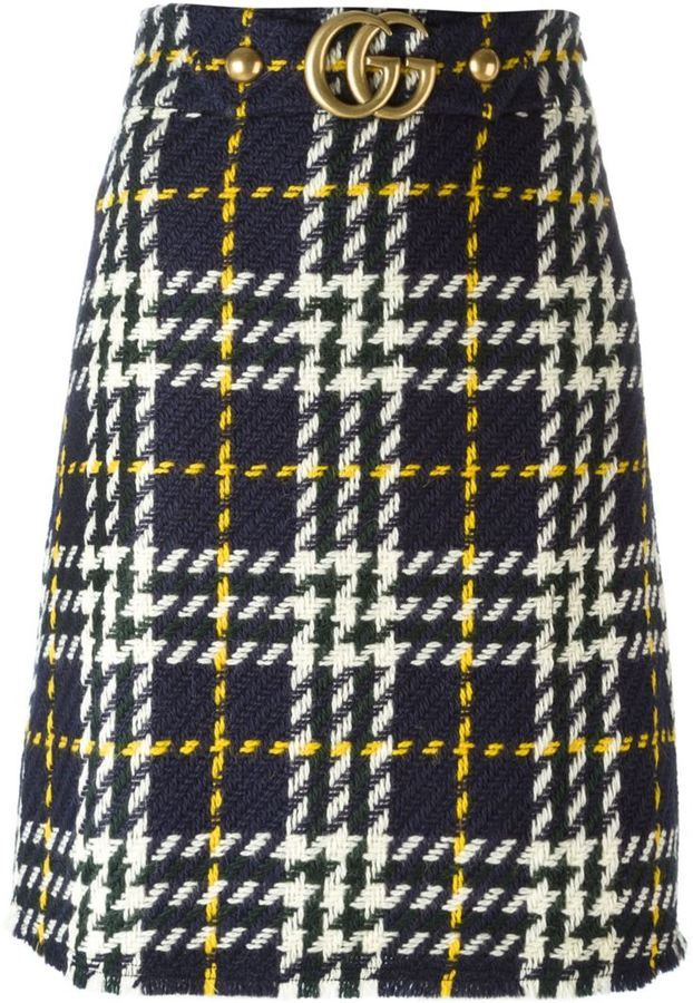 Gucci Houndstooth Knit Skirt | Where to buy & how to wear