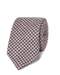 Brunello Cucinelli 7cm Houndstooth Wool And Silk Blend Tie
