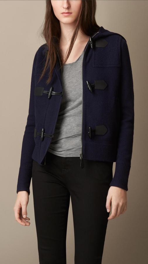 Burberry Brit Merino Wool Hooded Duffle Jacket | Where to buy ...