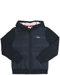 HUGO BOSS Knitted Cotton Quilted Nylon Jacket