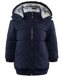BOSS Navy Hooded Puffer Coat