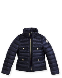 Moncler Obioma Zip Front Puffer Jacket Pink Size 8 14