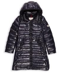 Moncler Toddler Girls Moka Long Hooded Down Jacket