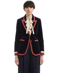 Gucci Velvet Jacket W Contrasting Color Trim