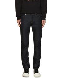 McQ Alexander Ueen Blue Raw Denim Skinny Jeans