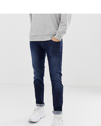 Replay Anbass Power Stretch Slim Jeans In Dark Wash