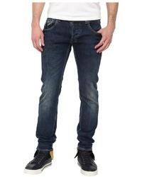 Armani Jeans Armani Jean Slim Fit Low Wait Bleached Denim Jean