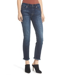 7 For All Mankind B Roxanne Frayed Ankle Slim Jeans