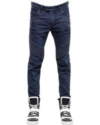 Balmain 17cm Washed Cotton Denim Jeans
