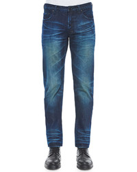 PRPS Barracuda Blue Fire Engine Denim Jeans Indigo