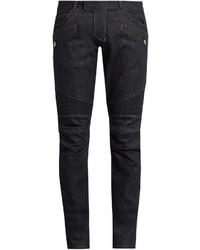 Balmain Biker Slim Leg Jeans