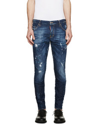 DSQUARED2 Blue Bocca Chicca Sexy Twist Jeans