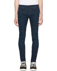 Diesel Blue Fourk Biker Jeans