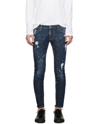 DSQUARED2 Blue Gold Rush Clet Jeans